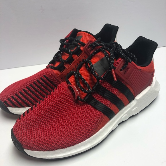online store 1b290 7d60a Adidas Mens EQT Boost Running Shoes Scarlet Red NWT